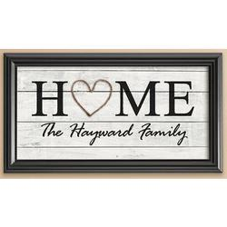 Personalized Rustic Heart and Home Print