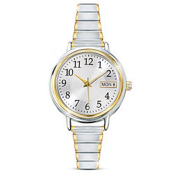 Classic Daytimer Women's Watch with Engraved Initials