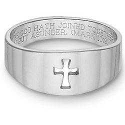 Cut-Out Christian Cross Bible Verse Ring