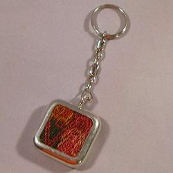 Pewter Pillbox & Keychain Combination