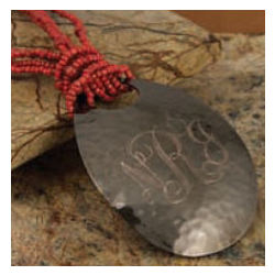 Monogrammed Hammered Teardrop Copper Necklace
