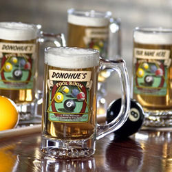 Personalized Pool Room Tankards Set