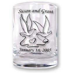 Custom Imprinted Shot Glass/Votive Candle Holder Favors