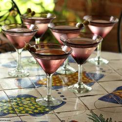 'Amethyst' Martini Glasses