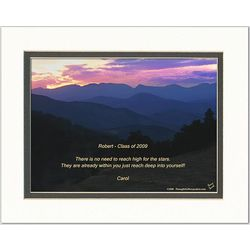 Graduation Poem Personalized Mountains at Sunset Print