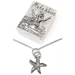 Make Waves Treasure Box & Starfish Necklace Set
