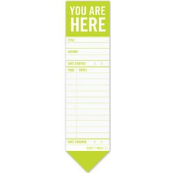 You Are Here Bookmark Pad