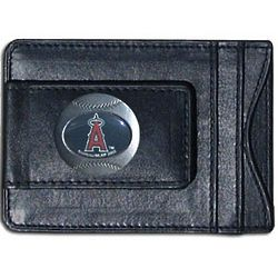 MLB Leather Wallet and Money Clip