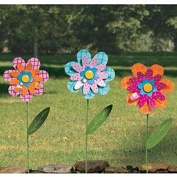 Large Flower Yard Stakes