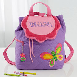 Personalized Butterfly Quilted Backpack