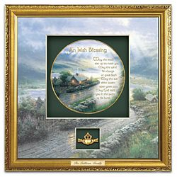 Thomas Kinkade An Irish Blessing Personalized Shadowbox Plate