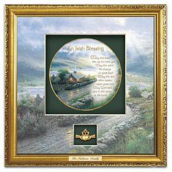 Thomas Kinkade An Irish Blessing Personalized Shadowbox Plate