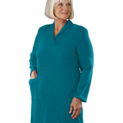 Women's Super Soft Adaptive Open Back Dress for the Disabled