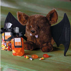 Happy Halloween Plush Bat and Candy Set