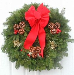 Gold Holly Christmas Wreath