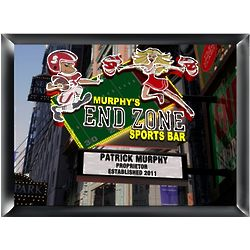 Personalized End Zone Sports Bar Marquee Traditional Sign