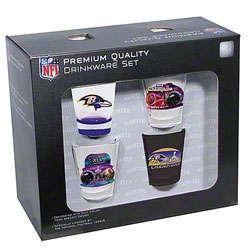 Baltimore Ravens Super Bowl XLVII Champions Shot Glass Set