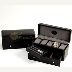Black Leather Watch Box
