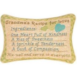 Grandma's Recipe for Love Pillow