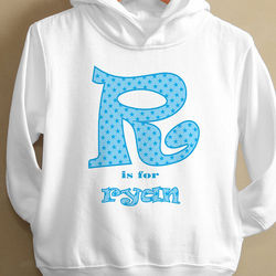 Alphabet Name Design Personalized Kid's Hoodie