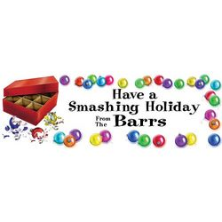 Ornaments 30x82 Personalized Vinyl Banner