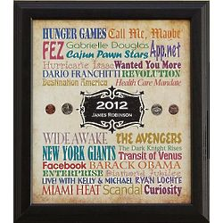 Personalized Colorful Year You Were Born Print