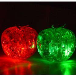 Flashing Apple 3D Jigsaw Crystal Puzzle