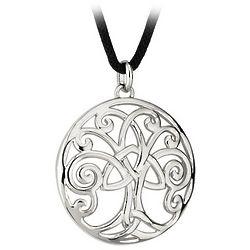 Rhodium Celtic Tree of Life Pendant