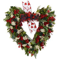 Handcrafted White Heart Wreath