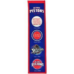 Detroit Pistons Heritage Banner