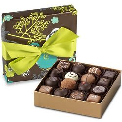 Classic Chocolate Truffle Collection in Summer Gift Box