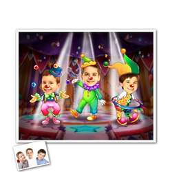 Circus Flare Caricature from Photo Print