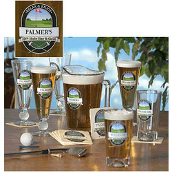 Personalized 19th Hole Golf Set of Mixer Glasses and Pitcher Set