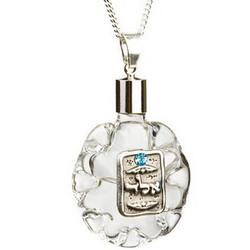 Glass Kabbalah Protection Charm Necklace