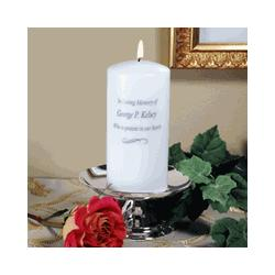 Personalized Memorial Candle & Stand