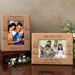 Personalized a Terrific Mom Wooden Picture Frame