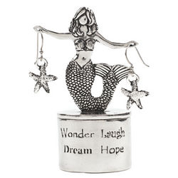 Wonder Laugh Mermaid Treasure Box & Starfish Earring Set