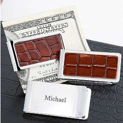 Personalized Chrome Plated Money Clip