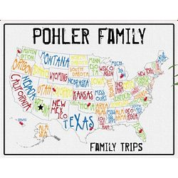 Personalized Spectrum Family Map Canvas
