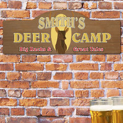Deer Camp Personalized Wall Sign