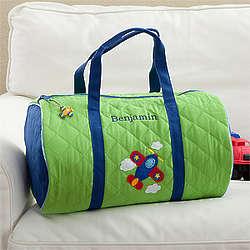 Personalized Airplane Duffel Bag