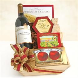 Delightful Holiday Red Wine Gift Basket
