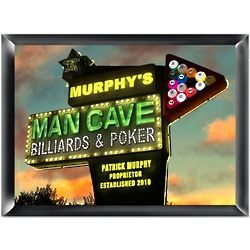 Personalized Marquee Man Cave Traditional Sign
