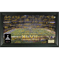 Baltimore Ravens Super Bowl XLVII Celebration Signature Gridiron