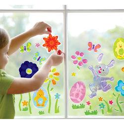Spring Flower GelGems Window Clings