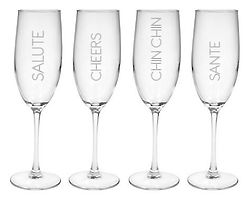 Salute Champagne Flutes