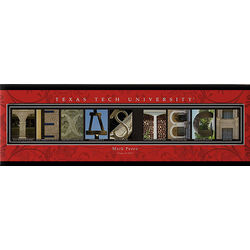 Texas Tech 12x36 Personalized Letter Canvas