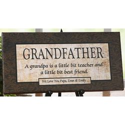 Personalized Grandfather Loving Sentiment Canvas