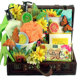 Butterfly Garden Spa Gift Basket