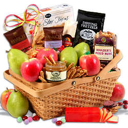 Fruit and Snacks Deluxe Gift Basket